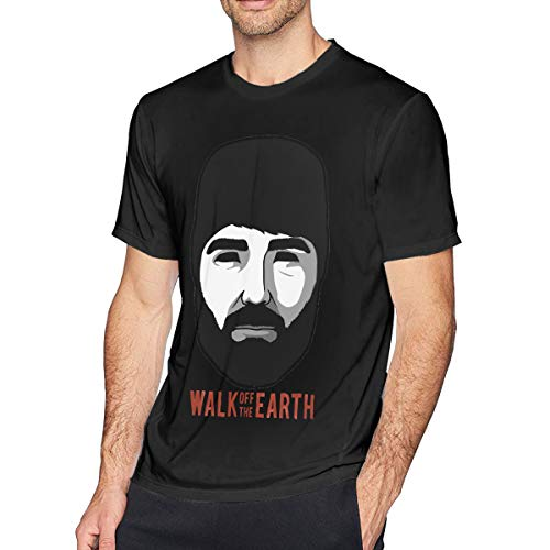 Guangou Mens Vintage Walk Off The Earth - Hipster Beard Tees XXL Black (Beard Man T Shirt Walk Off The Earth)