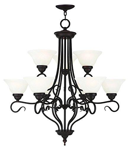 - Livex Lighting 6119-07 Coronado 9 Light Chandelier, Bronze