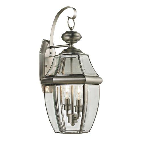 Wall Large Beacon Lantern Outdoor (Cornerstone Lighting 8602EW/80 Ashford 2 Light Exterior Coach Lantern, Antique Nickel)