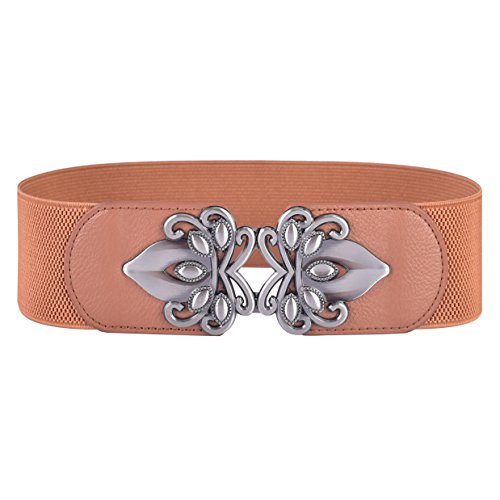Leather Cinch Belt (Talleffort Vintage Wide Elastic Stretch Waist Belt Cinch (S-M(24.5