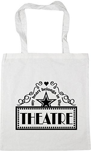 Heart Gym Beach HippoWarehouse In 10 the Tote White My Belongs x38cm Theatre litres Shopping Bag 42cm aBTTx5