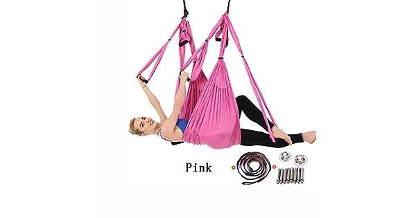 Amazon.com: NSC Hamaca Yoga 6 asas antena Yoga Swing Silk ...