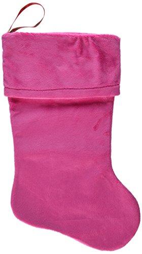 Mirage Pet Products Plain Velvet Christmas Stocking, Size 18, Pink ()