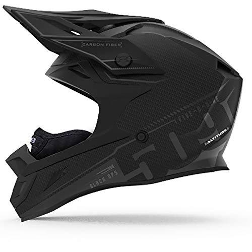 Ops Carbon (509 Altitude Carbon Fiber Helmet with Fidlock (Black Ops - Large))