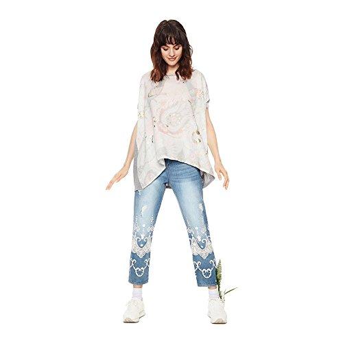 Chiaro shirt Grigio T Tee Desigual Clarette Graphic Donna Ts 18swtk18 qpy8z5x