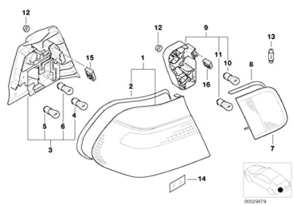 Bmw Genuine Rear Light Tail Lamp Socket Housing E46 3 Series