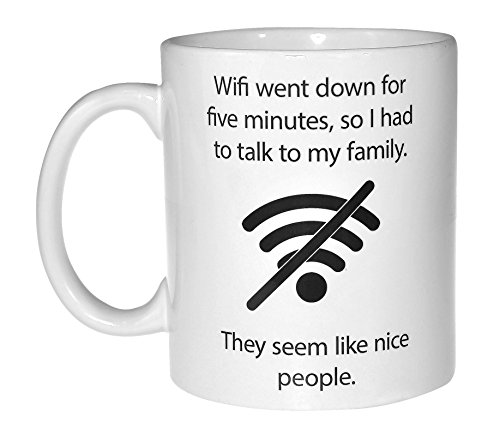 Mug Computer (Wifi Quote Funny Coffee or Tea Mug - Geek and Computer Nerd Gift)