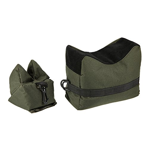 Nachvorn Outdoor Shooting Rest Bag - Target Sports Bench Unfilled Front & Rear Support Bags For Shooting Hunting Photography, Army - Rear Front Bag