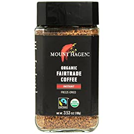 Mount Hagen Freeze Dried Instant Coffee- 3.53 Oz Jars- 2 Pack