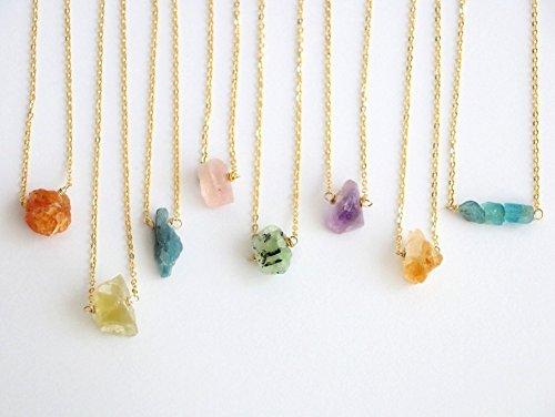 Tiny raw crystal choker necklace