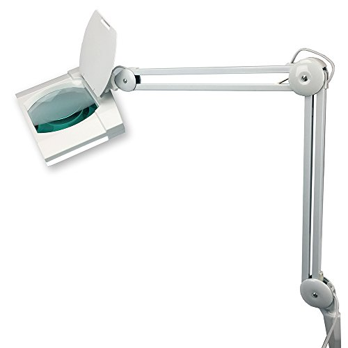 High Quality 96 LED Rolling Base Professional Deluxe Magnifier Lamp - Extra-Large, Wheeled Base by Intereum (Image #1)