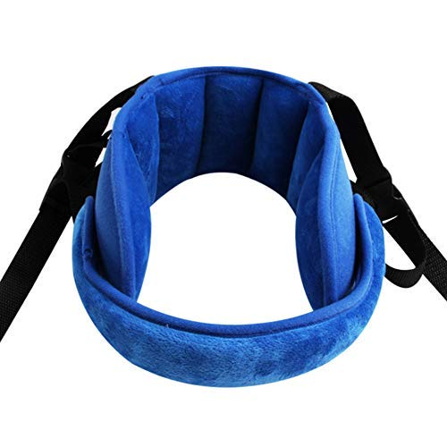 INCHANT Adjustable Child Car Seat Head Support Band, Head Support A Comfortable Safe Sleep Solution,Blue Head Support Belt