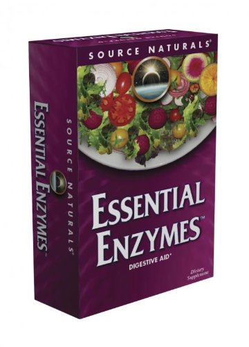 Source Naturals Essential Enzymes 500 mg capsules végétariennes, 120-Count