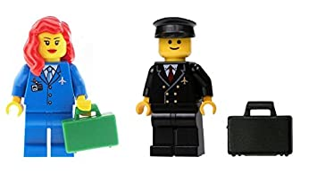 LEGO 3 x Brief Case Black Grey Brown For Minifigure City Business