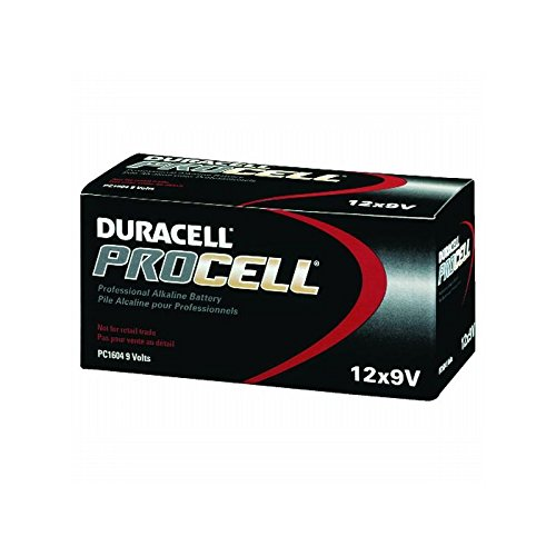 Proctor & Gamble Procell Alkaline ''9 Volt'' Battery, 12 Per Pack, 1 Pack by Proctor & Gamble
