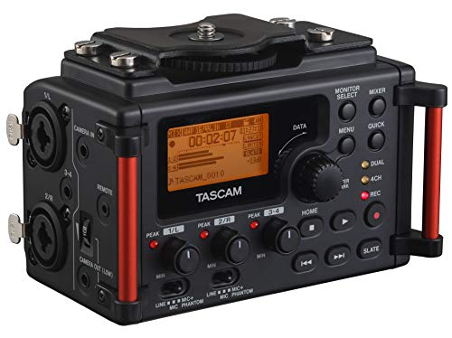 Tascam DR-60DMKII 4-Channel Portable Audio Recorder for DSLR (Best Portable Field Recorder)