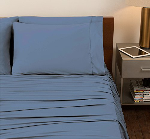 SHEEX - ORIGINAL PERFORMANCE Sheet Set with 2 Pillowcases, Ultra-Soft Fabric Transfers Body Heat and Breathes Better than Traditional Cotton, Carolina Blue (Queen) by Sheex (Image #5)'