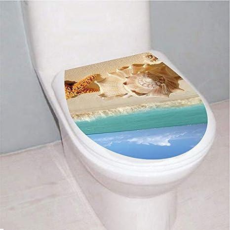 3D Estrella de Mar Shell Mar playa Asiento Del Inodoro Pegatinas ...