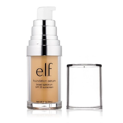 e.l.f. Cosmetics, Beautifully Bare Foundation Serum, Broad Spectrum SPF 25 Sunscreen, Light/Medium, 0.47 fl oz