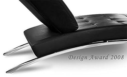 Lounge sessel echt leder schwarz  Bauhaus Daybed Chaiselongue Lounge-Sessel Relax Liege Couch Sofa ...