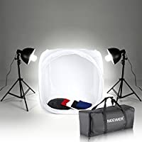 Neewer 32x32/80x80cm Shooting Tent 400W 5500K Continuous Lighting Kit with 4 Colors Background and Carrying Bag for Product,Video Shoot and Still Life Workshop Photography