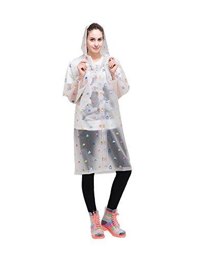 Portátil de la mujer moda gabardina larga con manga larga chaqueta de viaje reutilizable lluvia Mac Estilo 1
