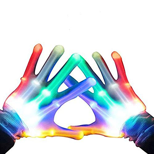 Toys for 3-12 Year Old Boys, TOP Gift LED Flashing Gloves Novelty Toys Toys for 3-12 Year Old Girls Cool Fun 2018 Christmas New Gifts for Kids Boys Girls 3-12 Stocking Fillers GL01 ()