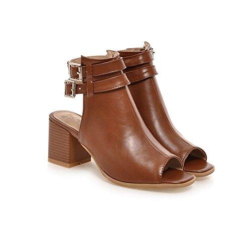 Milesline Women's Leatherette Slingback Peep Toe Ankle Bootie