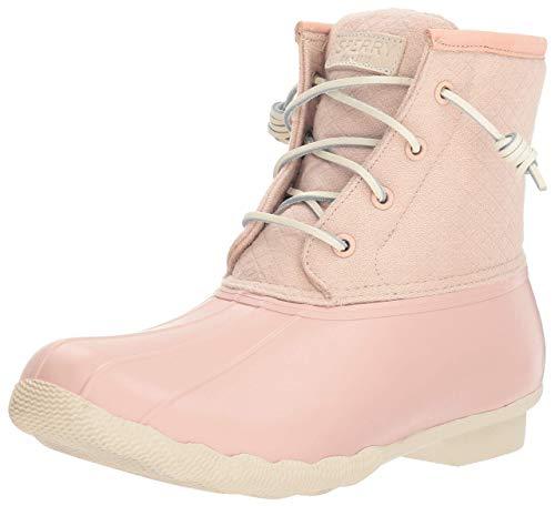 Sperry Women's Saltwater Wool Embossed Rain Boot, Rose Dust, 9.5 M -