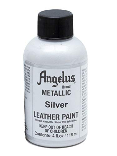 Angelus Leather Paint 4 Oz Silver ()