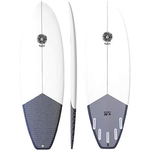 KONA SURF CO. Jersey Jack Groveler Surfboard in Clear/Charcoal sz:6ft 2in