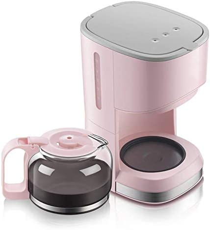 Encounter-K Mini Coffee Machine 5 Cup Coffee Maker Pink American Drip Type Home Coffee Maker 0.7 L Insulation Glass Coffee Maker