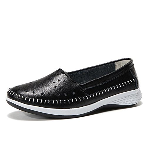 Guisantes 36 Guisantes cómodos Mujer de Negro señoras Color Individuales Zapatos Verano Antideslizantes Zapatos Ocasionales de Zapatos tamaño de Las Zapatos Zapatos de 2018 Zapatos de xwPTI5qS