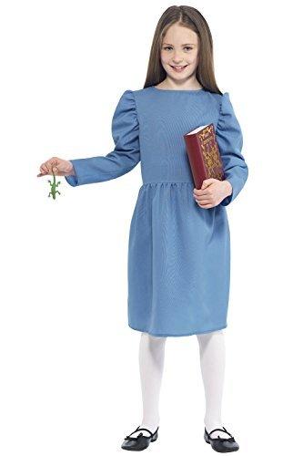 Miss Trunchbull Matilda Costume (Smiffy's Big Girls' Matilda Roald Dahl Fancy Dress Costume Medium Age 7 To 9 Blue)