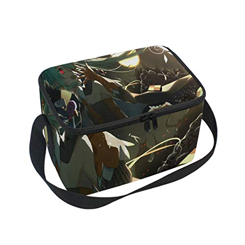 Fantastic Anime Halloween Wallpaper Insulated Lunch Bag Tote Bag Cooler Lunchbox for Picnic School Women Men Kids ()