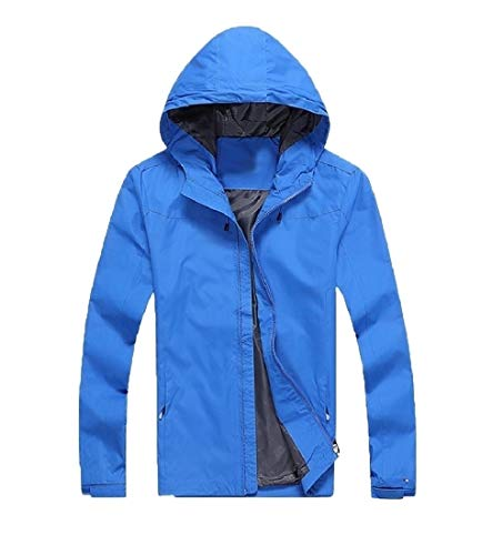 Solido Fit Antivento Trench Pizex Sizecoat Outwear Cielo Loose Sankt Blu Più Uomini Yawq8F8
