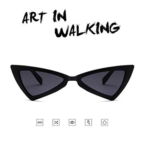 gato para sol Gafas triángulo diseño de viaje de de de de ojo UV400 mujer gafas sol 8ffOnw4R