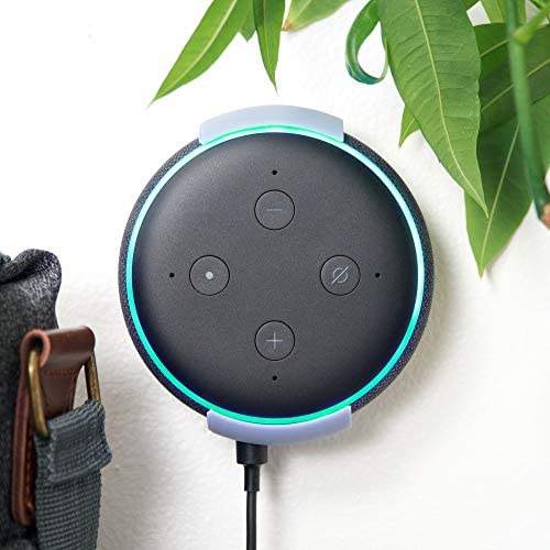 Alexa Echo Dot Wall & Ceiling Mount, Ternal Brand Damage Free System, Screwless & Sturdy. 100% Designed & Made in The USA, Fits third Gen Echo Dot.