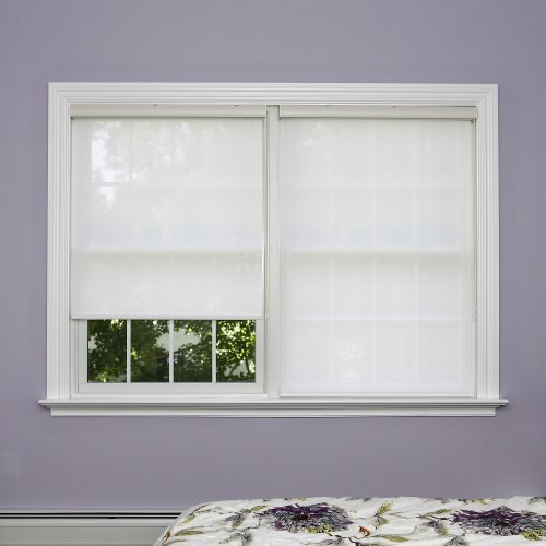 Best Home Fashion Premium Linen Look Roller Window Shade - White - 27 3/14
