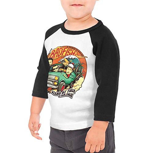 (LIALUER Badfish A Tribute to Sublime Stand by Your Van Tour Toddler Raglan 3/4 Sleeve Baseball Tee)