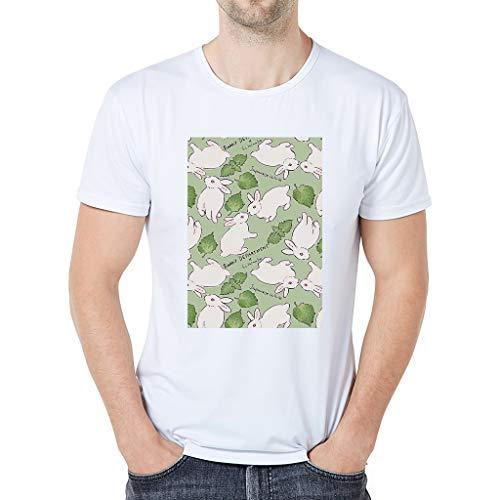 iHPH7 T-Shirt Men Short Sleeve Tee Fashion Cartoon Animal Print XXL 4- White]()