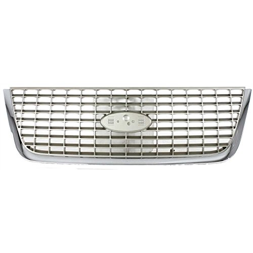 Evan-Fischer EVA17772022967 Grille for Ford Expedition 03-06 Chrome Factory Insert Eddie Bauer (Expedition Chrome Grille)