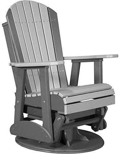 LuxCraft Recycled Plastic 2 Adirondack Swivel Glider Chair