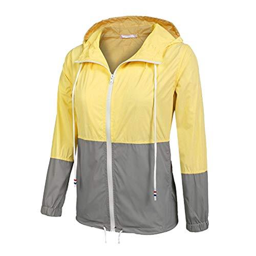 Raincoats Donna Con Trench Leggera grigio Outdoor Giallo Giacca Cappuccio Active Impermeabile Antipioggia Fangcheng Zg0dqwq