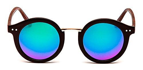 De Color Negro Espejo Lentes Sol Walney SUNXY Rv017 Con Unisex Gafas avw5WnWqzT