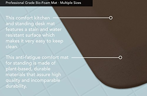 """NewLife by GelPro Professional Grade Anti-Fatigue Kitchen & Office Comfort Mat, 20x48, Earth ¾"""" Bio-Foam Mat with non-slip bottom for health & wellness by NewLife by GelPro (Image #4)"""