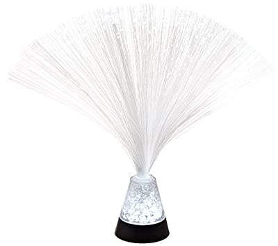 """Fortune Products FOL-325CRUSH-12 Crystal Crushed Fiber Optic LED Lamp, 3"""" Base Width x 3.25"""" Base Height, 9.75"""" Tall (Pack of 12)"""