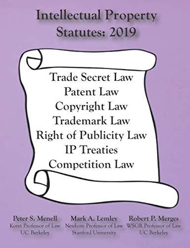 (Intellectual Property Statutes 2019)
