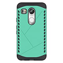 Nexus 5X Case, Cruzerlite Spartan Dual Protection Cases Compatible with LG Nexus 5X - Teal