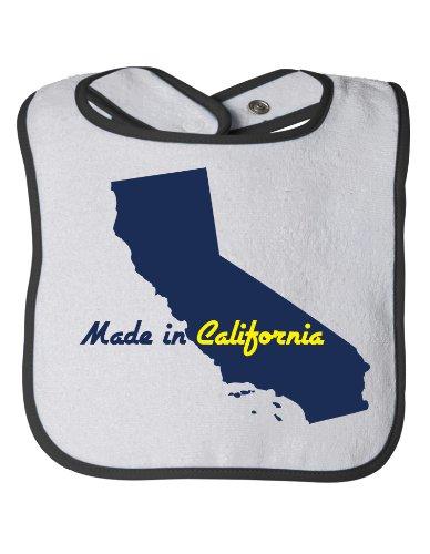 MADE IN CALIFORNIA Baby Feeding Bib / Cute, Funny Infant Newborn CA Humor